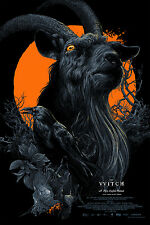 The Witch Movie Black Phillip Variant Screen Print Poster Vance Kelly Mondo Like