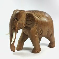 Hand Carved Wood Elephant Figure Sculpture Home Decor Vintage New Style!