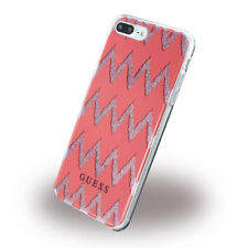 Genuine Guess 3D Effect Pink Silicone Case For Apple iPhone 7 Plus