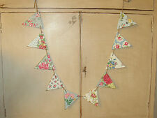 SHABBY CHIC WOODEN BUNTING MADE USING CATH KIDSTON DESIGN DRESSER VINTAGE ROSES