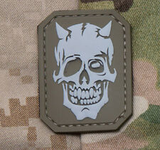 Mil-Spec Monkey Devil Skull Morale Patch Desert Hook Back