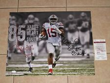 EZEKIEL ELLIOTT SIGNED OHIO STATE VS BAMA METALLIC 16x20 JSA WIT Dallas Cowboys