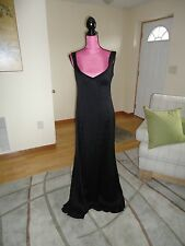 100%AUTH NARCISO RODRIGUEZ GOWN/DRESS/BLACK/6/M/SILK/$3270.00/sleeveless/formal