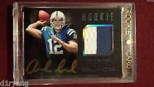 Andrew Luck 2012 Panini Black Player Worn Patch Gold Auto Rookie 074/349