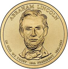 "2010 D Abraham Lincoln Presidential Dollar ""About Uncirculated"" Coin US Mint"