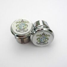 Vintage Style Hill Special Chrome Racing Bar Plugs, Caps, Repro