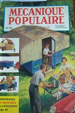 REVUE MECANIQUE POPULAIRE N° 098 CAMPING VOITURE PLYMOUTH HORS BORD RADIO 1954