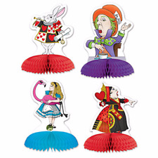 Tea Party MINI ALICE IN WONDERLAND CENTERPIECES (4 COUNT) Party Decorations