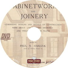 Cabinetwork & Joinery  {How To Woodworking Book w Furniture Plans } on DVD