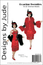 "Roaring Twenties Flapper Doll Clothes Sewing Pattern 22"" American Model Tonner"