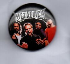 METALLICA  BUTTON BADGE  AMERICAN HEAVY METAL BAND RIDE THE LIGHTNING  25mm PIN
