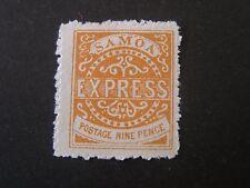 SAMOA, SCOTT # 5, 9p VALUE PALE CHESTNUT1880 KINGDOM EXPRESS ISSUE MLH