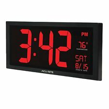 "Chaney Instruments 75100C Acurite Digital 18"" Wall Clock"