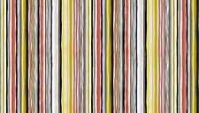 "Patch DOGS Stripe 100% cotton fabric Makower Size 22"" x 18"" larger available"