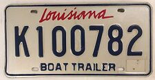 Rare Louisiana BOAT TRAILER license Plate Pelican New Orleans Yacht Sailboat LA