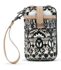 Sakroots Smartphone Wallet Wristlet Crossbody Black White One World iPhone 6 7