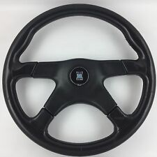 Nardi Gara 365mm 4 spoke black leather steering wheel. Genuine. Classic bargain