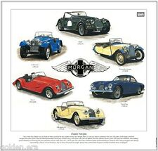CLASSIC MORGAN - Fine Art Print - Plus 4 Plus 8 3-Wheeled 4/4 series one to five