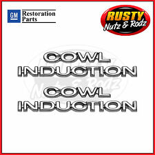 70-72 Chevelle Cowl Induction Hood Emblems Full Set GM Restoration Parts
