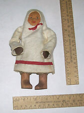 Vintage CLOTH DOLL w/Wooden Boots - Cloth label MADE IN SOVIET UNION 8088 SAMOED