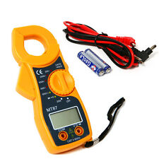 High Accurate AC/DC Digital Multimeter Electronic Tester Clamp Meter w/ battery