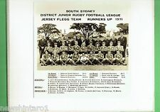 #T102.  SOUTH SYDNEY JUNIOR RUGBY LEAGUE PHOTO - 1971  JERSEY  FLEGG  RUNNERS UP