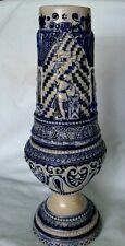 German Vintage Blue Grey Stoneware Salt Glaze Pottery Vase Urn    D1