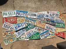 Scratch and dent sale ! Cheap lot 30 expired rustic craft License Plate Plates