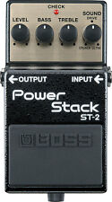 BOSS ST-2 POWER STACK DISTORTION GUITAR EFFECTS PEDAL & 2 FREE PLECTRUMS