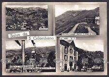 BRESCIA COLLIO 07 SAN COLOMBANO - SALUTI da... Cartolina FOTOGRAFICA viagg. 1963