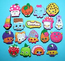 Shopkins Cake Toppers 18 Cupcake Decorations Food Party Favours NEW