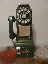 Vintage Western Electric 3-Slot Payphone with an original telephone box