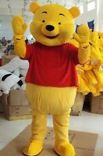 Winnie the Pooh Bear Cartoon Character Mascot Costume Adult Size Dress ZZ*