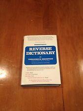 Bernstein's Reverse Dictionary by Theodore M. Bernstein (1975, Hardcover)