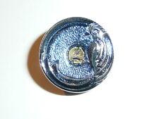 Wonderful Silver Parrot Bird on Blue Czech Glass Shank Button 22mm - Parrot Bird