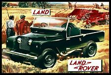 The Land Rover Steel Enamel Display Car Sign
