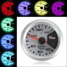 7 Color 2'' 52mm Digital LED Water Temperature Temp Gauge Meter W/ Sensor New