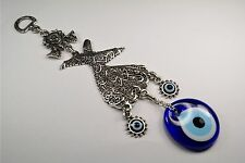 Mevlana Rumi Turkish Nazar Glass Evil Eyes Wall Hanging Charm Amulet-Gift