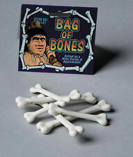 Bag of Bones Small Plastic Bone Craft Props Caveman Costume Accessory