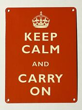 Keep Calm and Carry On SML - Tin Metal Wall Sign