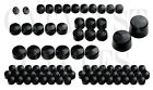 BLACK BOLT TOPPERS KIT FOR HARLEY BOLT CAPS TOURING MODELS 09-13 (111 PIECES)