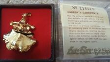 LESA COLLECTION SINGAPORE 22K GOLD PLATED HANDPICKED ORCHID PENDANT/BROOCH - NWC