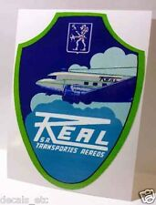 Real Aereos Transportes Airlines Brazil Vintage Style Decal / Vinyl Sticker