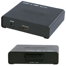 SCART/COMPOSITE TO HDMI CABLE CONVERTER -UP TO 720P- TV PROJECTOR ADAPTER