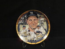 LOU GERHIG [YANKEES} HAMILTON COLLECTION PLATE MINT CONDITION COA