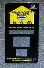 IGT Slot Machine I-Game Slant Top Bill Validator Side Glass