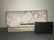BRAHMIN SOFT CHECKBOOK PINK MADERA LEATHER WALLET/BAG/PURSE G44 908 00011