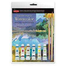 YOUR FIRST STEPS IN WATERCOLOR KIT :Materials & Step-By-Step Project : US3 : NEW
