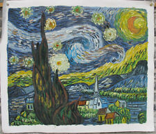 Handmade oil on canvas reproduction of Starry night by Van Gogh 20x24""