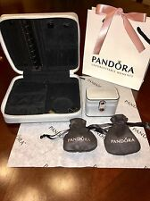 Pandora LE Silver Leather Jewelry Box with Ring Box And Two Pouches! Special !